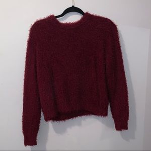 H&M Burgandy Fluffy Sweater